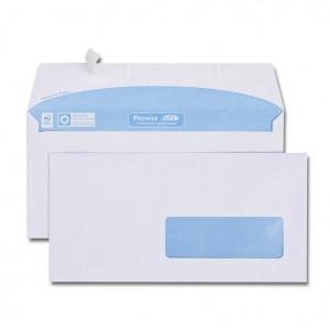 Boîte de 500 enveloppes blanches DL 110x220 90 g/m² fenêtre 35x100 bande de protection