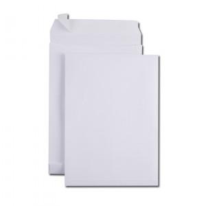 Boite de 100 sacs à soufflets kraft armé blanc C4 229x324 130 g/m² bande de protection