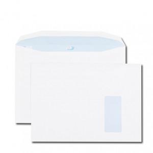 Boite de 250 enveloppes patte trapèze blanches C4 229x324 90 g/m² fenêtre 105X50 gommées