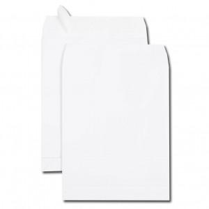 Boite de 250 sacs à soufflets velin blanc C4 229x324 120 g/m² bande de protection