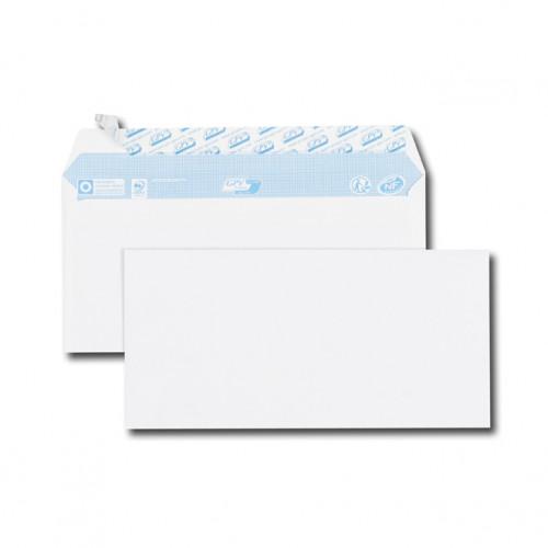 Paquet de 100 enveloppes blanches DL 110x220 75 g/m² bande de protection